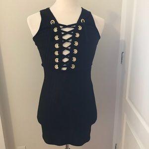 Dresses & Skirts - Deep V Tie Up Dress